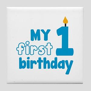 First Birthday Tile Coaster