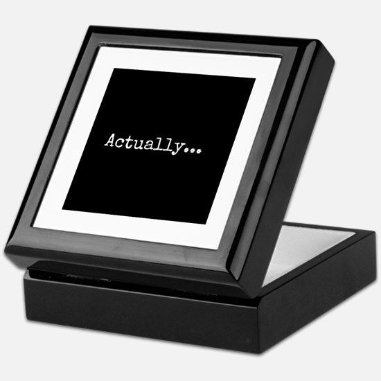 Know-It-All Keepsake Box