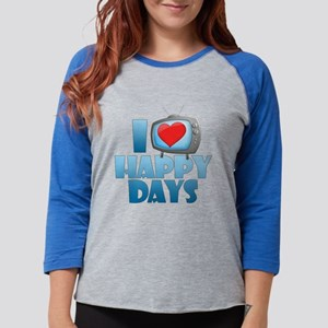 I Heart Happy Days Womens Baseball Tee