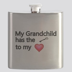 My Grandchild has the key to my heart Flask