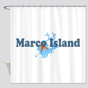 Marco Island - Beach Design. Shower Curtain