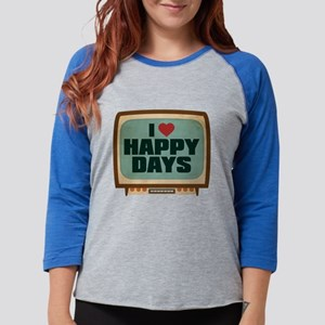 Retro I Heart Happy Days Womens Baseball Tee