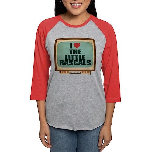 Retro I Heart The Little Rasc Womens Baseball Tee