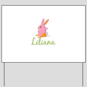 Easter Bunny Liliana Yard Sign