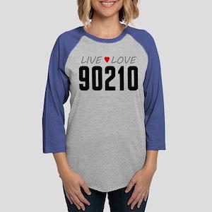 Live Love 90210 Womens Baseball Tee