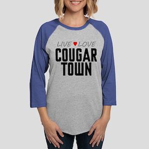 Live Love Cougar Town Womens Baseball Tee