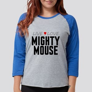 Live Love Mighty Mouse Womens Baseball Tee
