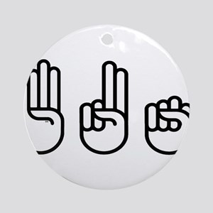 420 fingers Ornament (Round)