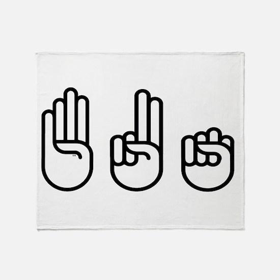420 fingers Throw Blanket