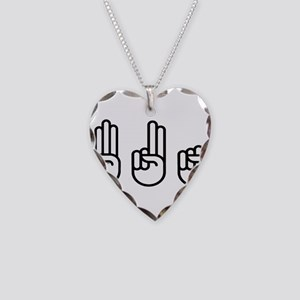 420 fingers Necklace Heart Charm
