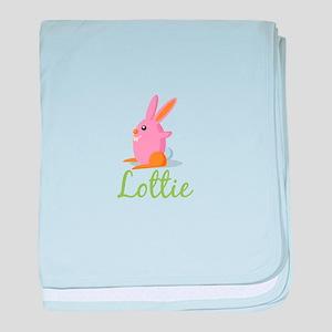 Easter Bunny Lottie baby blanket