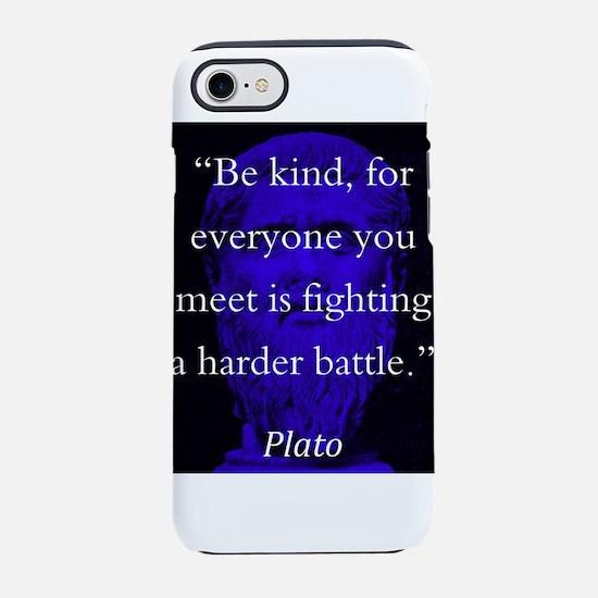 Be Kind - Plato iPhone 7 Tough Case
