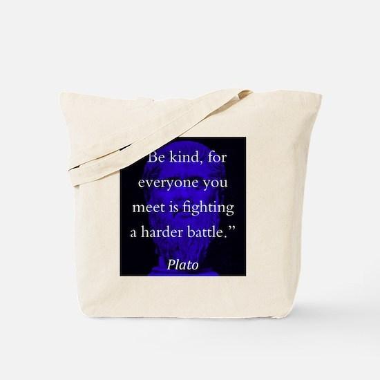 Be Kind - Plato Tote Bag