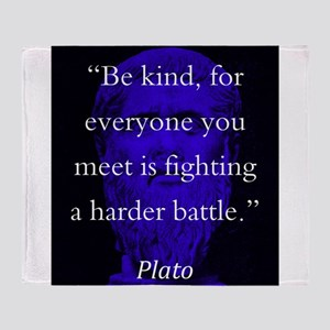 Be Kind - Plato Throw Blanket