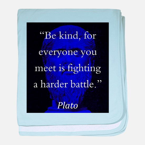 Be Kind - Plato baby blanket