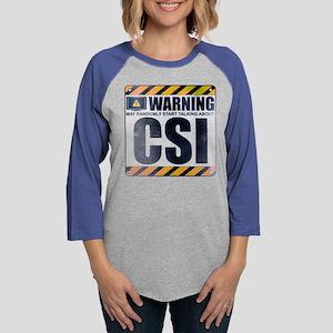 Warning: CSI Womens Baseball Tee