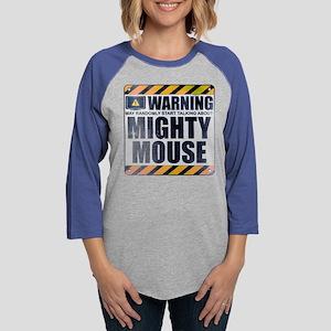 Warning: Mighty Mouse Womens Baseball Tee