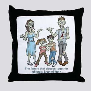 Zombies: Family Decay Throw Pillow