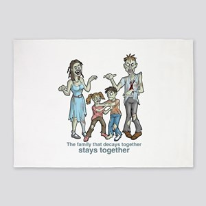 Zombies: Family Decay 5'x7'Area Rug