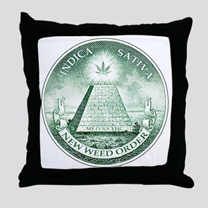 New Weed Order by mouseman Throw Pillow