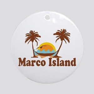 Marco Island - Palm Trees Design. Ornament (Round)