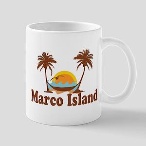 Marco Island - Palm Trees Design. Mug