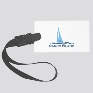 Marco Island - Sailing Design. Large Luggage Tag