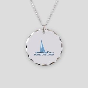 Marco Island - Sailing Design. Necklace Circle Cha