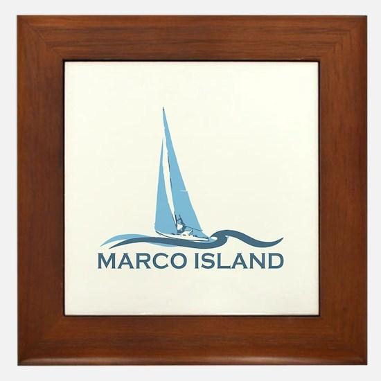 Marco Island - Sailing Design. Framed Tile