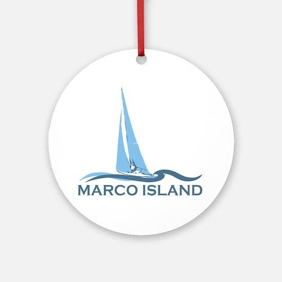 Marco Island - Sailing Design. Ornament (Round)