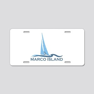 Marco Island - Sailing Design. Aluminum License Pl