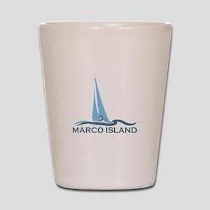 Marco Island - Sailing Design. Shot Glass