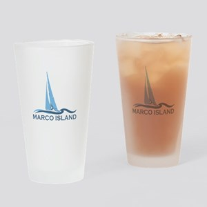 Marco Island - Sailing Design. Drinking Glass