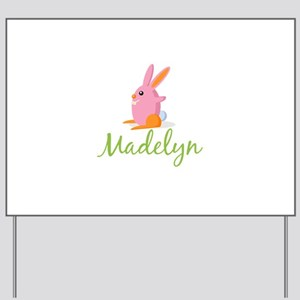 Easter Bunny Madelyn Yard Sign