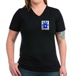 Baudinelli Women's V-Neck Dark T-Shirt