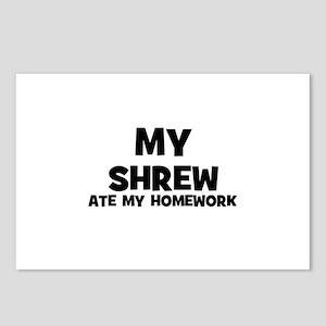 My Shrew Ate My Homework Postcards (Package of 8)