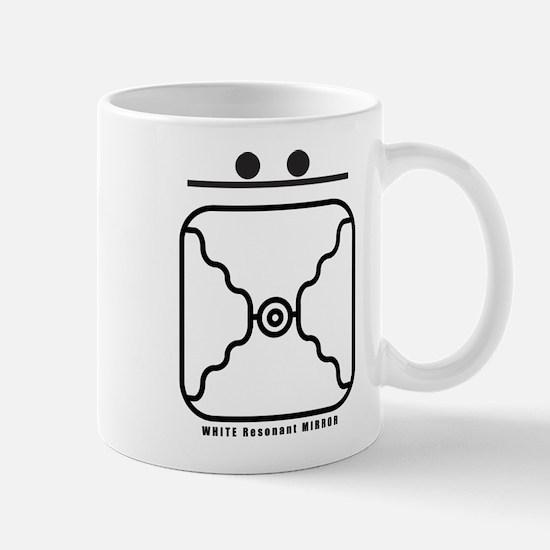 WHITE Resonant MIRROR Mug