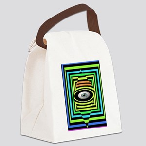 OPTICAL EYE Canvas Lunch Bag