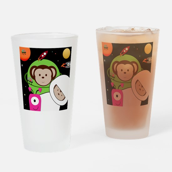 Monkeys In Space Aliens Rockets Drinking Glass