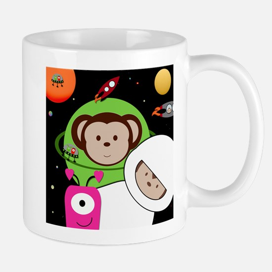 Monkeys In Space Aliens Rockets Mug