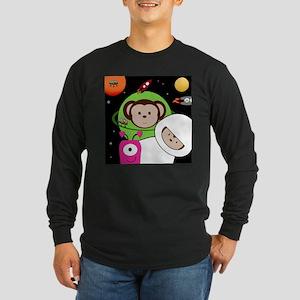 Monkeys In Space Aliens Rockets Long Sleeve T-Shir