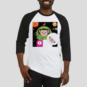 Monkeys In Space Aliens Rockets Baseball Jersey