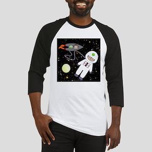 Monkeys In Space Aliens Space Walk Baseball Jersey