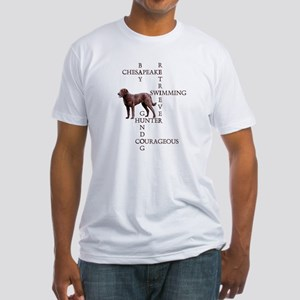 CHESSIE CROSSWORD Fitted T-Shirt