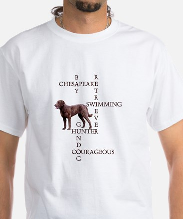 CHESSIE CROSSWORD White T-Shirt