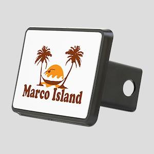 Marco Island - Palm Trees Design. Rectangular Hitc