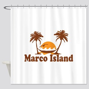 Marco Island - Palm Trees Design. Shower Curtain