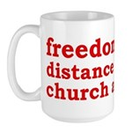 Separation of Church and State Large Mug