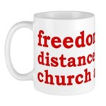 Separation of Church and State Mug