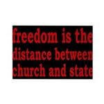 Separation of Church and State Rectangle Magnet